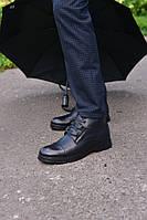 Ботинки зимние черные натуральная кожа, фото 1