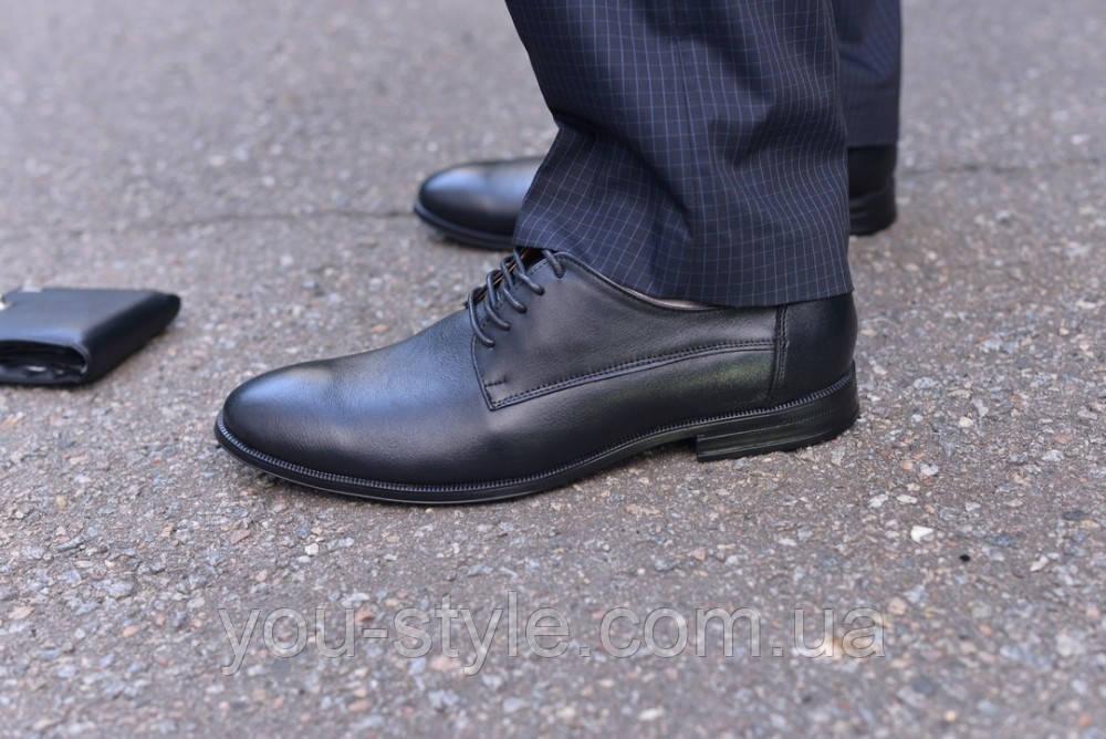 Туфли натуральная кожа черные классика