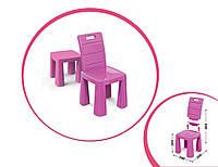 Детский пластиковый Стул-табурет трансформер (красный, зеленый, розовый, голубой, фиолетовый) Розовый