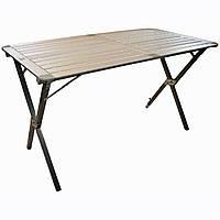 Стол туристический раскладной для кемпинга/ пикника (алюминиевая столешница) Highlander Alu Slat Folding Large
