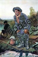 """Схема для частичной вышивки """"Рыболов"""""""