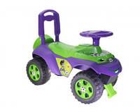 """Детский толокар каталка """"Машинка"""" разноцветная (с откидным сидением, пищалкой рулем) высота сидения 25 см"""