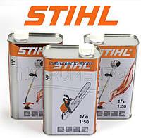 Оригинальное моторное масло STIHL HP (1л) для 2-х тактных двигателей