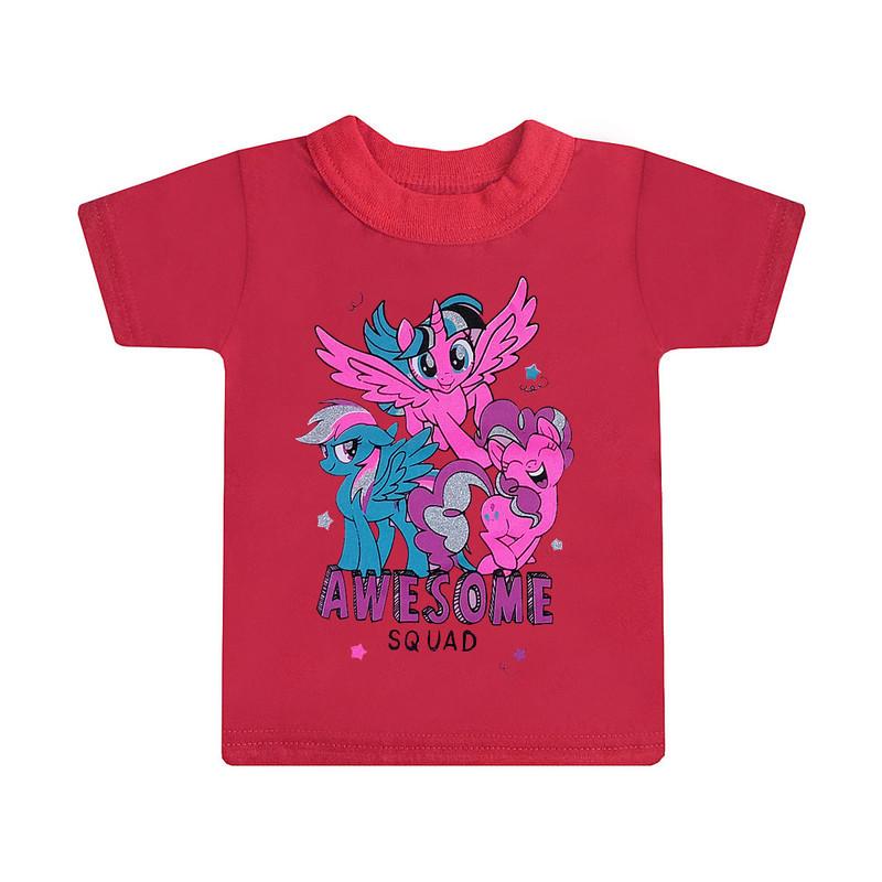 Дитяча стильна футболка Awesome squard для дівчаток кулір