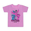 Дитяча стильна футболка Awesome squard для дівчаток кулір, фото 3