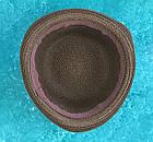 Женская летняя Бретонская шляпа Канотье City-a Котелок Коричневая с черной лентой, фото 2