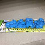 Набір форм-плунжерів Дитинство для печива,мастики(з пресом) 4шт., фото 2