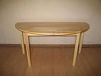 Стол детский полукруглый из натуральной древесины (81115) h=460/520/580 мм