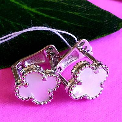 Срібні родированные сережки конго діам. 18 мм - Сережки-кільцями родированное срібло