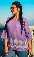 Блуза 852605/3 50/52 сиреневый, фото 1