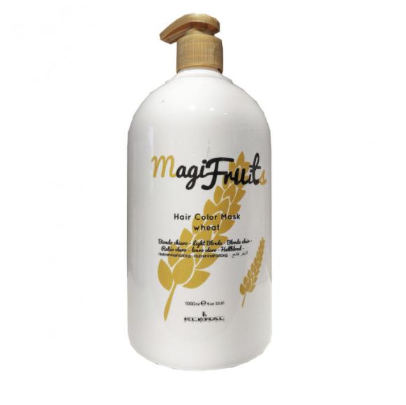 Окрашивающая маска с пигментом пшеничный блонд с протеинами для волос Wheat MAGIFRUIT Kleral System 1000 мл