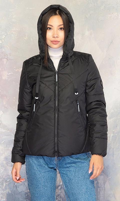Женская Куртка 856812/1 48 чёрный