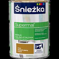 Краска для дерева и металла Sniezka Супер эмаль СВЕТЛЫЙ ОРЕХ (F555), 0,8 л