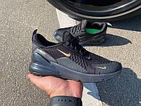 Кроссовки Nike Air 270 Black/Gold, фото 1