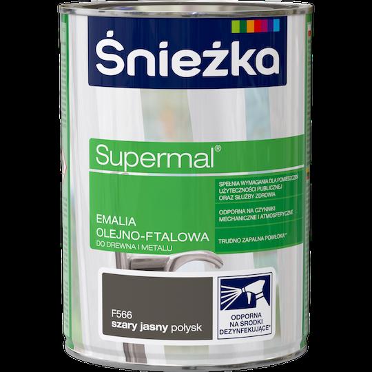 Эмаль маслянно фталевая Sniezka Supermal светло серая (F566), 0,8 л