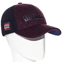 Зимняя мужская кепка с ушами Alex BZVH20610 58-60 Бордовая