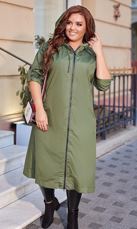 Женская Куртка 856709/1 50/52 зеленый