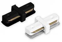 Коннектор прямой LD1100 для соединения усиленного шинопровода Feron CAB1100 белый, черный