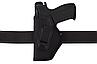Кобура Форт-17 Левша поясная с клипсой (Oxford 600D/кожа, чёрная), фото 3