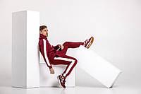 Бордовый костюм с лампасами, фото 1