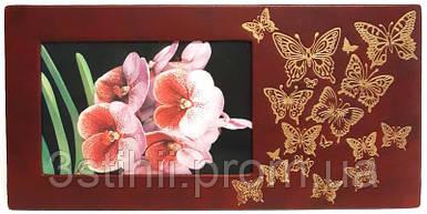 Рамка для фото Макей кожаная Полет бабочки (519-08-01)