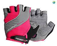 Велоперчатки PowerPlay 5023 Рожеві XS, S, M (выбор внутри)