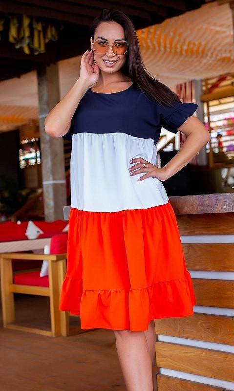 Платье 881844/1 50/52 оранжевый