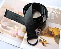 Тренд сезона тканевый ремень Louis Vuitton Black, фото 1
