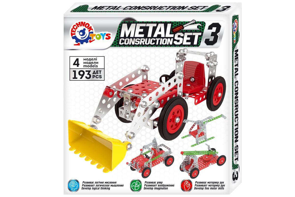 Конструктор металевий дитячий Іграшка ТехноК арт.6412