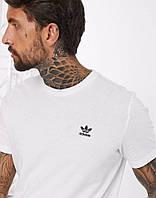 Футболка Adidas белая с чёрным лого, фото 1