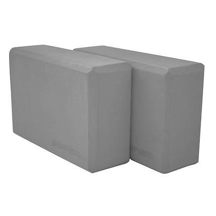 Блок для йоги 2 шт SportVida SV-HK0155-2 Grey, фото 2