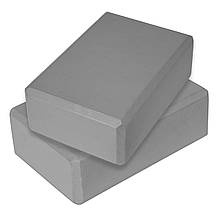 Блок для йоги 2 шт SportVida SV-HK0155-2 Grey, фото 3