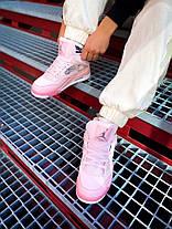 "Кросівки Air Jordan Air 4 Retro Off-Pure White Pink ""Рожеві"", фото 2"