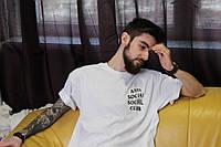 Классическая белая футболка Аnti Social Social Club, фото 1
