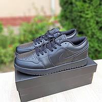 Мужские кожаные кроссовки Nike Air Force реплика, фото 1