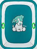 Манеж Qvatro Солнышко-02 мелкая сетка  морская волна (dog), фото 2