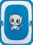 Манеж Qvatro Солнышко-02 мелкая сетка  синий (panda), фото 2