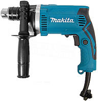 Ударная дрель Makita HP1630 710 Вт, 0-3200 об./мин с набором сверл, бит, камней Ударная дрель Макита