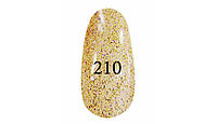 Гель лак № 210 ( Золотой с фиолетовым блеском ) 7 мл.