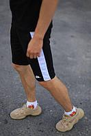 Шорты Nike черные с белым лампасом, фото 1