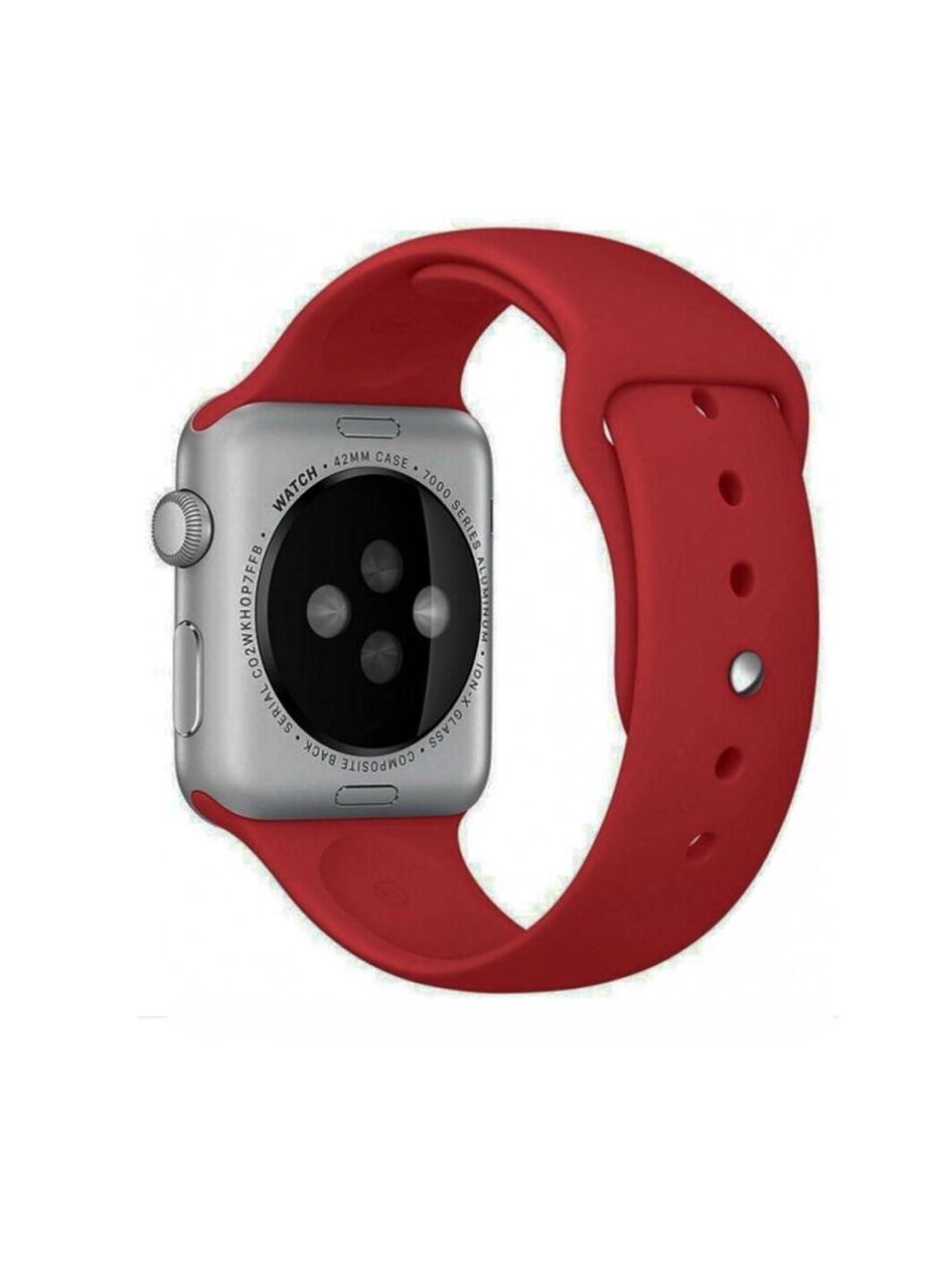 Ремешок Sport Band для Apple Watch 42/44mm силиконовый size(s) ARM Series 5 4 3 2 1 Chinese Red