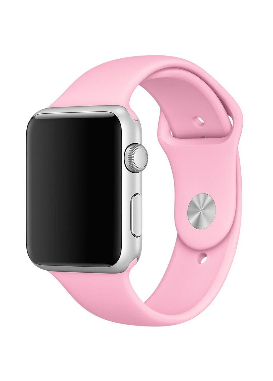 Ремешок Sport Band для Apple Watch 38/40mm силиконовый size(s) ARM Series 5 4 3 2 1 Rose Pink