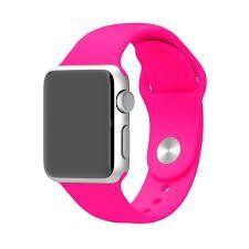 Ремешок ARM силиконовый Sport Band для Apple Watch 38/40mm size(s) Barbie Pink