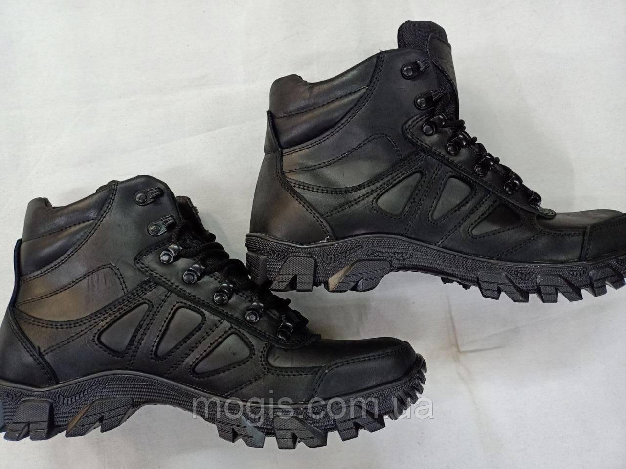 Ботинки тактические Теда 21 черные (со вставками )