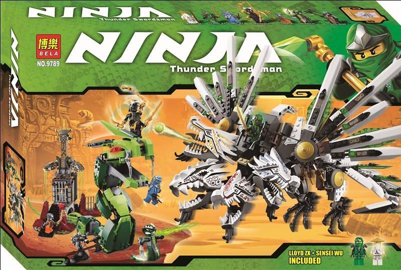 Конструктор Bela 9789 Ninja Последняя битва 911 деталей