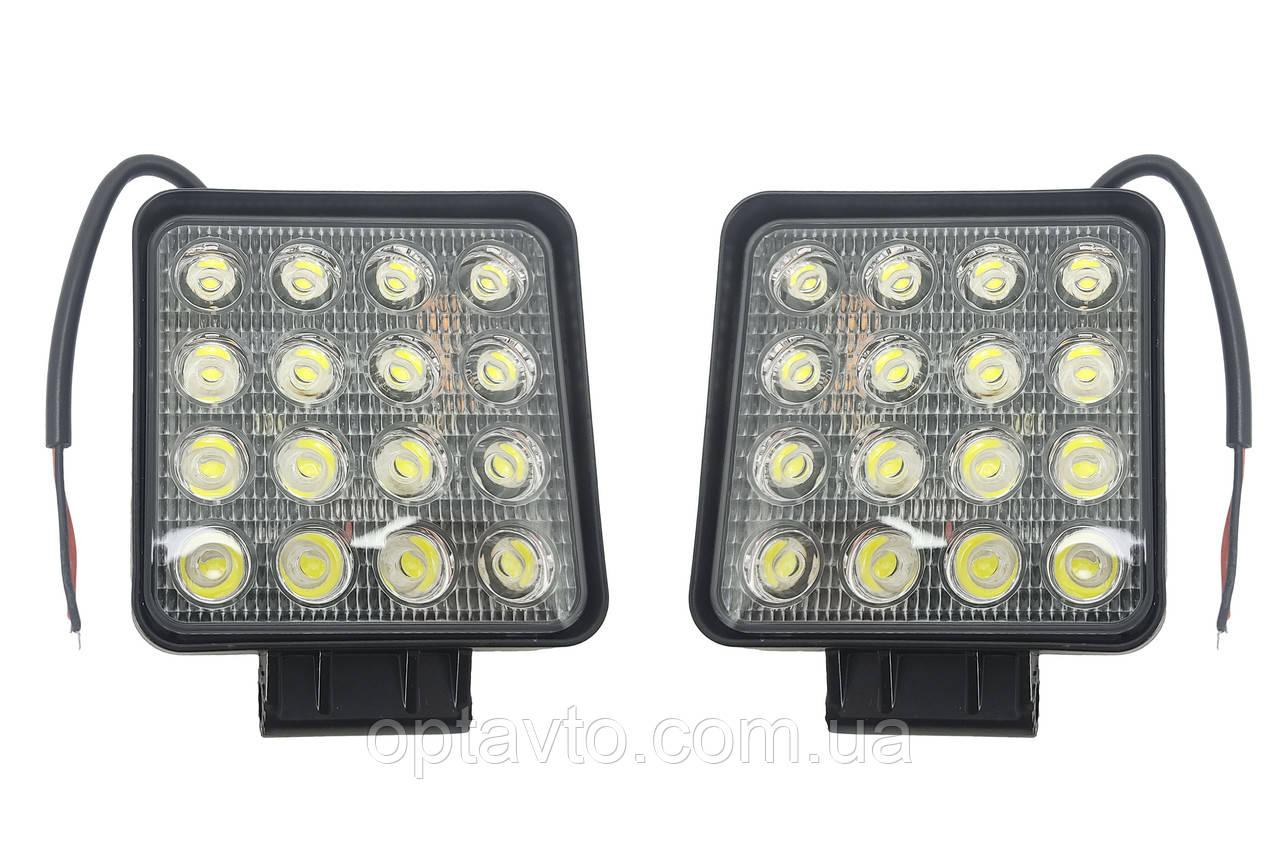 Комплект LED фар по 16 диодов в каждой! Светодиодные лэд фары 48W. Пр-во Корея