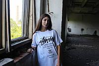 Белая футболка Stussy