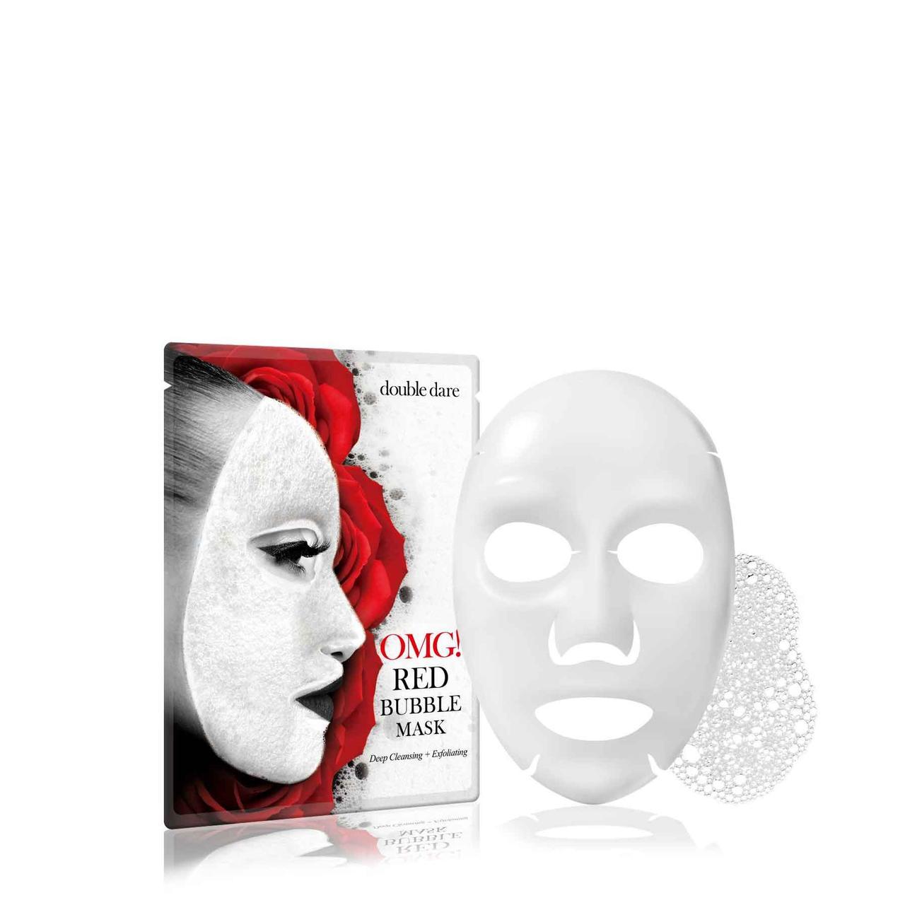 Кислородная маска очищающая с экстрактами 8 красных растений Double Dare OMG! Red Bubble Mask, 1 шт.