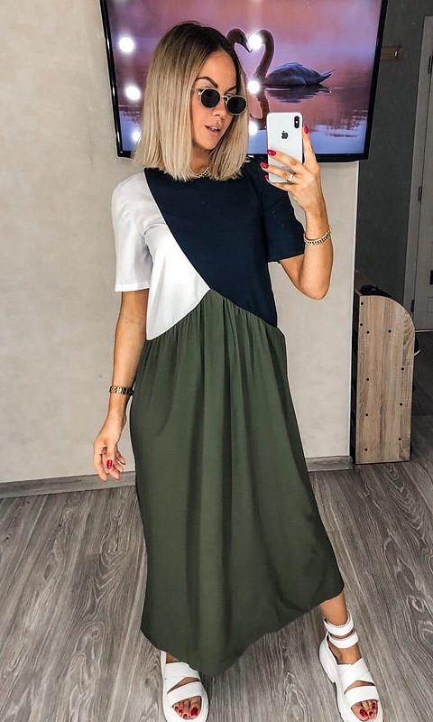 Женское Платье 431355/3 42/44 зеленый