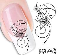 """Наклейка на ногти, наклейка для ногтей, ногтевой дизайн """"узор цветок"""" 20 шт набор"""